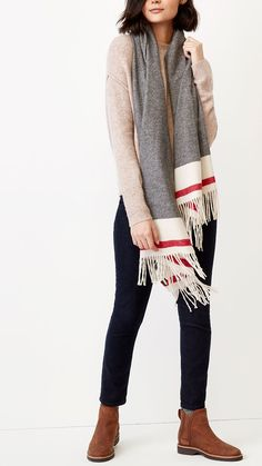 1f86c6b863988 Our Roots Cabin Woven Scarf is made from a soft blend and features our  classic cabin