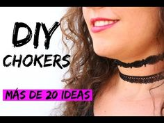 DIY CHOKER- SUPER FÁCIL - YouTube
