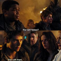 #TheScorchTrials - The hurt in Frypan's eyes and the anger in Thomas' makes my heart fill with pain. They don't deserve to be in constant pain 24/7 sigh — #QOTD Would you forgive Teresa? Would you trust her?