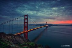 Golden gate sunset by Silvio Rugolo on 500px