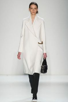 Coup de coeur Fashion Week New York: manteau blanc Victoria Beckham -