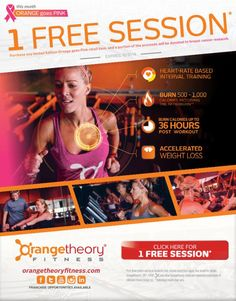 @OrangetheoryFitness is going #PINK for #BreastCancerAwarenessMonth for the Month of October