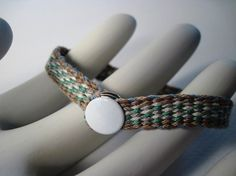 Woven Friendship Bracelet White Blue Gray TICKSEED by JDStar,