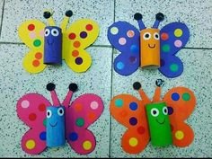 TOILET PAPER ROLL BUTTERFLY 🦋 - such a cute butterfly craft for kids! Kids will love making these out of toilet paper rolls or paper rolls as a recycled craft. Preschool and kindergarten classes can make these to learn about the butterfly lifecycle even! Kids Crafts, Bug Crafts, Spring Crafts For Kids, Daycare Crafts, Summer Crafts, Toddler Crafts, Preschool Crafts, Easter Crafts, Diy For Kids