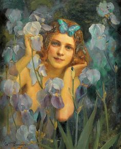 ⊰ Posing with Posies ⊱ paintings of women and flowers - Gaston Bussière