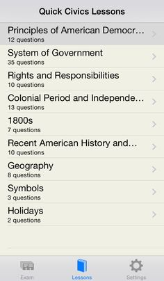 Citizex - US Citizenship Test iOS iPhone !!! Free for a limited time !!! Need to prepare for the U.S. naturalization interview? Or just want to see if you could pass the citizenship test? This app lets you do both. 'Exam' mode tests your knowledge by asking you randomly selected questions. 'Lessons' mode allows you to study all 100 questions including additional information for every question. + landscape mode + works without internet connection 1MB