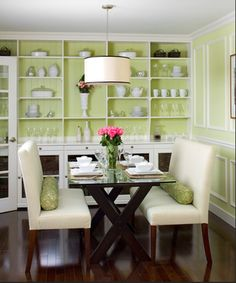 Dining table with two bench seats.