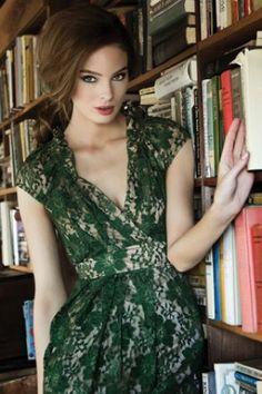Green Lace Dress. Gorgeous!