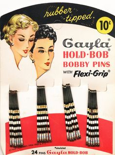 vintage bobby pins package