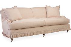 Lee Industries: C3278-32 Slipcovered Two Cushion Sofa