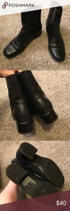 Black ankle boots size 8 M Cute boots in great condition! Inner ankle zip! maripe Shoes Ankle Boots & Booties
