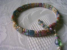 Armband Fieberklee einfach Tile Beads Marmor
