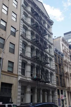 Manhattan Buildings, Multi Story Building, Street View, Life