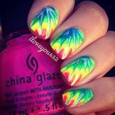 Tie dye nails  ❤  @TaylorMarie432 - @Emily Mcdaniel