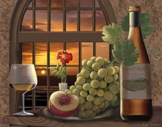 """""""Pinot Noir At Sunset"""" by Rosiland Solomon"""