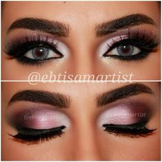 Pink Purple Smokey Eye
