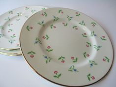 Vintage Royal Victoria Blue Pink Floral Bone China by thechinagirl