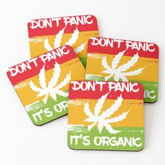 Don't Panic, Cold Drinks, Coaster Set, My Arts, It Is Finished, Organic, Art Prints, Printed, Awesome