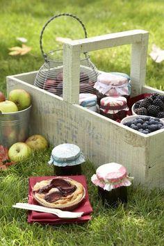 Un picnic en un domingo soleado de otoño......