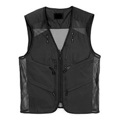 Mens Outdoor Multifunction Multi-pocket Mesh Hunting Fishing Vest  http://fishingrodsreelsandgear.com/product/mens-outdoor-multifunction-multi-pocket-mesh-hunting-fishing-vest/  Polyester 100% 8 pockets for convenient storage. Effortlessly Carry your belongings – Front hidden Kangaroo Hand Zip pockets, Zippered pockets on the chest, besides neck and at the center Vented mesh panels -increases breathability. This stylish design makes you cool and comfortable