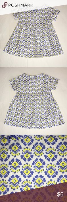 Dress White with yellow and blue design dress Carter's Dresses Casual