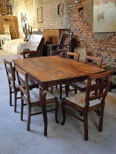 Juego comedor normando muebles manantiales vintage for Comedor vintage chile