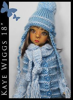 "Winter Blue OUTFIT for KAYE WIGGS 18"" MSD by Maggie and Kate Create"