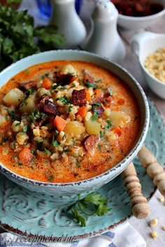 Érdekel a receptje? Kattints a képre! Küldte: illeskrisz Soup Recipes, Keto Recipes, Hungary Food, Hungarian Recipes, No Cook Meals, Soups And Stews, Good Food, Food Porn, Food And Drink