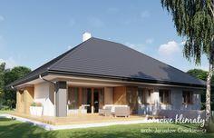 Projekt domu Neptun IV, wizualizacja 3 Modern House Plans, Sweet Home, Outdoor Decor, Home Decor, Ideas, Houses, House Construction Plan, Decoration Home, Modern Home Plans