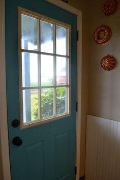 52 Ideas For Exterior Metal Door Makeover Mobile Home Front Door, Mobile Home Doors, House Front Door, House Doors, Mobile Homes, Painted Exterior Doors, Painted Front Doors, Exterior Paint, Interior Sliding French Doors