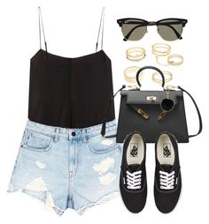 Sin título #13153 by vany-alvarado on Polyvore featuring polyvore fashion style Alexander Wang T By Alexander Wang Charlotte Russe Louis Vuitton Vans Ray-Ban clothing