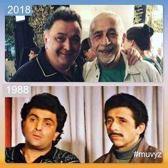 """1 Likes, 1 Comments - muvyz.com (@muvyz) on Instagram: """"#RishiKapoor #NaseeruddinShah #BollywoodFlashback #80s #NowAndThen #muvyz030118 #RishiMuVyz…"""""""