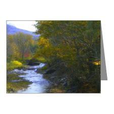 Mountain Stream Autumn Note Cards (Pk of 10)