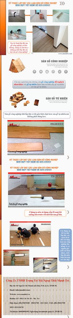 Sàn gỗ công nghiệp khác với sàn gỗ tự nhiên. Vậy kỹ thuật lắp đặt sàn gỗ công nghiệp có khó không, chúng ta cần lưu ý những gì khi lắp đặt các loại sàn gỗ công nghiệp?  http://manhtri.vn/ky-thuat-lap-dat-san-go-cong-nghiep-luon-ben-dep-24764.html