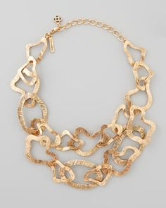Y1KTJ Oscar de la Renta Sculpted Chain Necklace