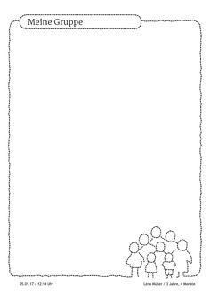 """Portfoliovorlage für """"Meine Gruppe"""". Bietet sich an für Portfolios rund um das Kita-Geschehen.  https://stepfolio.de/ #Gruppe #Erzieher #Portfolioeintrag #Portfolio #Kinder #Kindergarten #Kitaapp #stepfolio"""