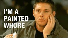 Jensen as Dean as Jensen -- painted whore gif - Supernatural