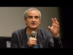 """Director Olivier Assayas talks about film and theater at the """"Clouds of Sils Maria"""" press conference during the New York Film Festival. Sils Maria, Juliette Binoche, Film Festival, Theater, Competition, Clouds, Youtube, Theatres, Movie Party"""