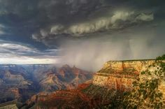 Via Chase TV~Tropical Storm Norbert pushes in from Mexico in over the Grand Canyon.
