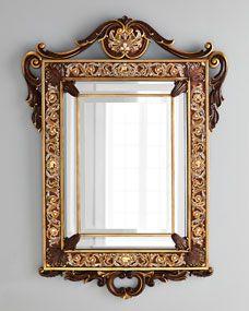 homco syroco home interior wall decor mirror shelf gold scrolling