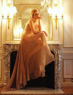 Diane Kruger Chanel No. 5  -(oddly i doubled for her, its the walk i think) but this is gorgeous