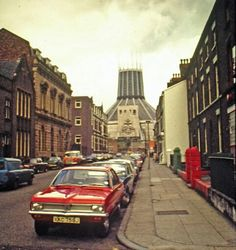 A view of Hope Street, Liverpool, England, 1976.