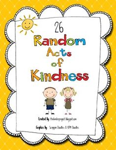 random acts of kindness - new years activity