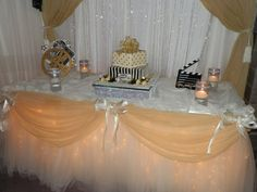 Crystal Backdrop, Fantasy Table Skirts(R), Patented and cannot be duplicated.
