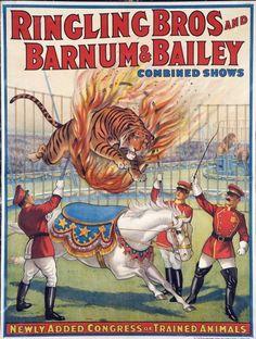 Vintage advertising poster | vintage posters | circus | circa 1930's