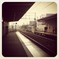 Gakuen-mae station, in Nara, Japan, at 6:30 am