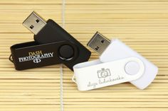 Light and dark custom flash drives with popular swivel cap