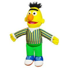 Playskool Bert Mini Plush Sesame Street Toys. This cute soft Bert mini plush toy from Playskool is a great way for children to bring the world of Sesame street to life. Feed their imagination with this gorgeous Bert mini plush soft toy.