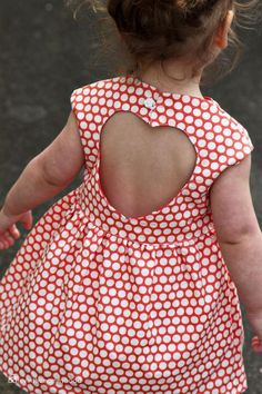 Sweetheart Dress Pattern  - how sweet is the cutout back on this dress!  Too adorable