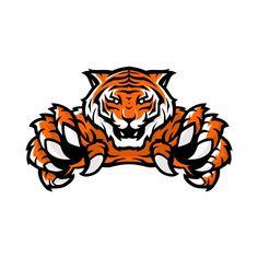 Logotipo de juego de deporte tigre Vecto... | Premium Vector #Freepik #vector #fondo #logo #diseno #diseno-logotipos Logo Esport, Gaming Logo, Tiger Vector, Blackboard Art, Watercolor Splatter, Tiger Logo, E Sport, Tiger Art, Art Studios